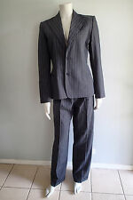 ralph lauren 10 WOOL BLEND BLAZER,SUIT Jacket,pants,STRIPES ,NAVY BLUE #