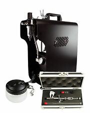 Professional Airbrushing Kit - Badger Renegade Krome & Sparmax 620X Compressor