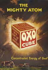 OXO Cube The Nighty Atom Concentrated Energy of Beef  Poster Print