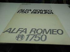 Alfa Romeo 1750 Berlina Sales Booklets (European + USA Version)