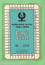 #D18. ADELAIDE OVAL CRICKET LADY'S TICKET 1984-85 #3334