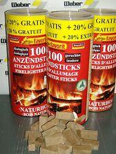 600 Ofenanzünder ANZÜNDSTICKS Naturholz Dose Kaminanzünder Grillanzünder 9501257
