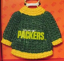 GREEN BAY PACKERS NFL CHRISTMAS TREE ORNAMENT CERAMIC SWEATER W/HANGER XMAS