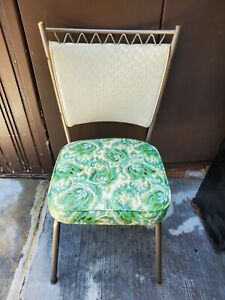 VTG Vinyl & Chrome Kitchen Dining Room Chair Diner Style Retro Fabulous! LOOK!