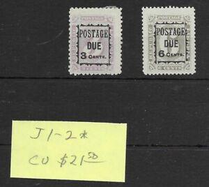 Liberia #J1-J2 MH - Stamp - CAT VALUE $21.50
