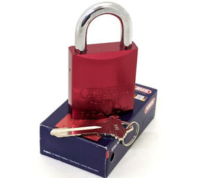 ABUS 83AL/45-300 Padlock Red - Rekeyable Schlage