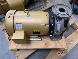EBARA Fluid Handling A3U50160100T3C Centrifugal Pump with Baldor 10 HP Motor