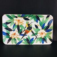 Takahashi San Francisco Tropicale Vintage Tray Platter Birds Tropical Flowers