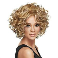 Fashion wig New Charm Women's short Mix Blonde Curly  Hair Full wigs