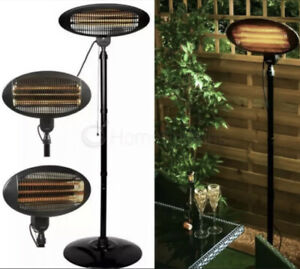 Premium Black Rounded Standing Electric Patio Heater Adjustable✅ NEXT DAY 🔥🔥