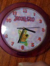 Scooby Doo Clock 2001 Hanna-Barbera works 100%