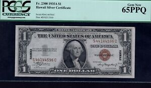 1935A 1 dollar Hawaii Silver certificate pcgs gem 65