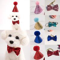 Hot Christmas Pet Dog Cat Adjustable Bow Tie Cap Cute Collar Pet Party Accessory