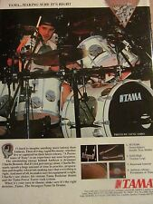 Anthrax, Charlie Benante, Tama Drums, Full Page Vintage Promotional Ad