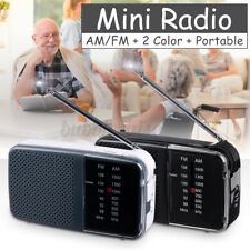 Portable Retro Mini Radio 2 Band FM AM Broadcast Pocket Receiver Rechargeable US