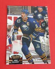 1992/93 Topps Stadium Club Hockey Mike Ramsey Card #386***Buffalo Sabres***