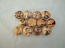 Set of 12 Vintage  Pin Up Girls Cabinet Knobs Drawer Knobs