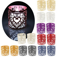 6pcs New Heart Tea Light Votive Candle Holders Wedding Birthday Party Home Decor