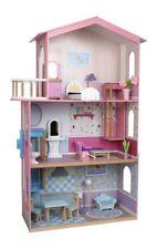 Casa delle bambole in legno con più ripiani e accessori,gioco/giocattolo per ...