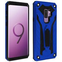 Coque Galaxy S9 Plus Protection Bi-matière Antichoc Fonction Support - bleu