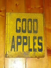 Vintage roadside advertising tin (steel) sign double sided Good Apples
