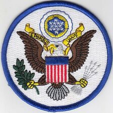 "5 US SEAL (White Blue) Embroidered Patches 3.5"" Diameter iron-on"