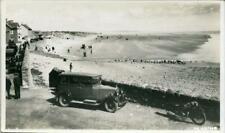 More details for real photographic postcard of an old car at pendine beach, carmarthenshire wales