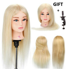 100% Human Real Hair 20' 'Salon Hairdressing Training Dummy Doll Mannequin Head