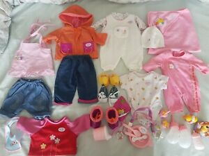 Zapf Creation Baby Born Doll Clothes.Shoes. Accessories Bundle