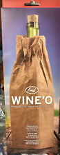 Fred and Friends Wine O Bottle Bag Paper Insulated Reusable Wine'o New Open Box