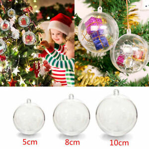 20/40 Weihnachtskugeln Kunststoffkugel Transparent Christmas Balls Acrylkugeln