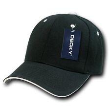 Black & White Sandwich Visor Bill Plain Blank Baseball Ball Cap Hat Caps Hats