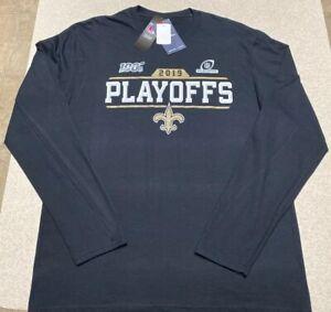 Fanatics Pro New Orleans Saints 2019 Playoffs Long Sleeve Shirt  Men's Size XL