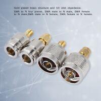 4 Pcs SMA zu N Adapter RF Koaxial Adapter Stecker 1000 mal 50 Ohm Verbindung