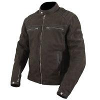 ARMR Moto Nubakku Classic Brown Nubuck Leather Motorcycle Motorbike Jacket