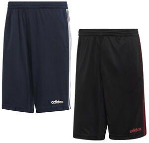 Mens Adidas Shorts Long Knee Length Gym Fitness Casual Summer - Black Navy