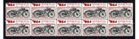 BSA MOTORCYCLES STRIP OF 10 MINT VIGNETTE STAMPS, 1932 W32-7