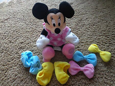DISNEY Minnie Mouse EUC doll w/mix/match bows & slippers & flexible arms/legs