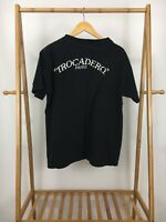 VTG 90s Trocadero Paris Black Single Stitch Short Sleeve T-Shirt Size One Size
