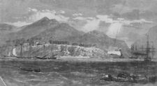 MEXICO. Acapulco, with the English and French fleet in the harbour, print, 1862