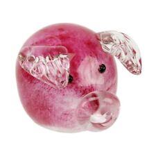 Objets D'Art Glass Figurine Little Pink Piggy