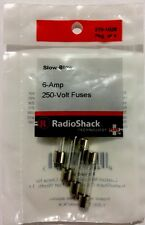"RADIOSHACK 6.0-AMP 250V 1¼X¼"" SLOW-BLOW FUSE (4-PACK) #270-1028 NEW"