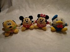 "Disney Basketball Minnie Donald Mickey Pluto 4"" Plush Soft Toy Stuffed Animal"