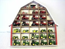 Lot of 30 Vintage ERTL John Deere & International Mini Toy Tractors w/Display