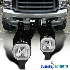 For 1999-2004 Ford F-250 F-350 Super Duty Excursion Fog Lights Lamps w/ Switch