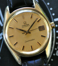 Vintage 1970 Omega Automatic Seamaster Watch Gold Cap & Dial Caliber 565 Runs ++
