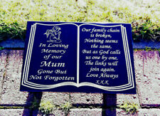 Headstone memorial plaques granite book design grave stone personalised