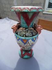 Vintage ancien vase art deco chasse anse diable faune masse cerdazur Vallauris ?
