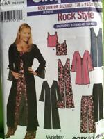 Simplicity Sewing Pattern 7184 Junior Coat Vest Knit Top Pants Size 7-16