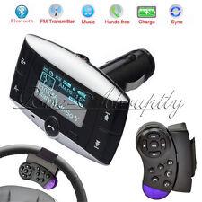 Bluetooth Hands-free Car Kit MP3 Player FM Transmitter Modulator Steering Wheel